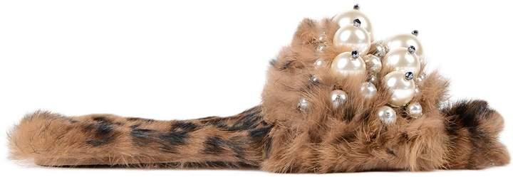 Miu Miu Lapin St.leopardo Sandal