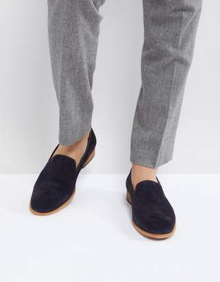 Zign Shoes Suede Smart Loafer In Navy
