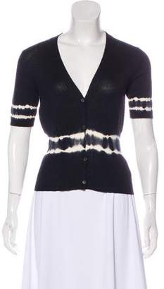 Miu Miu Short Sleeve Cashmere-Blend Top