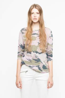 Zadig & Voltaire Willy Lin Camou T-Shirt