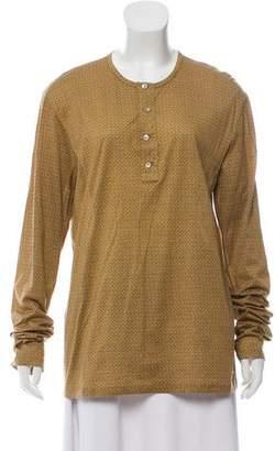 Burberry Printed Long Sleeve Top