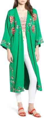 Topshop Floral Kimono