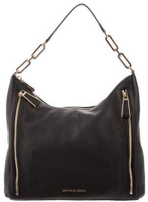 MICHAEL Michael Kors Grained Leather Zipper Hobo