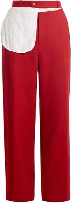 Alta split-waist wide-leg wool trousers
