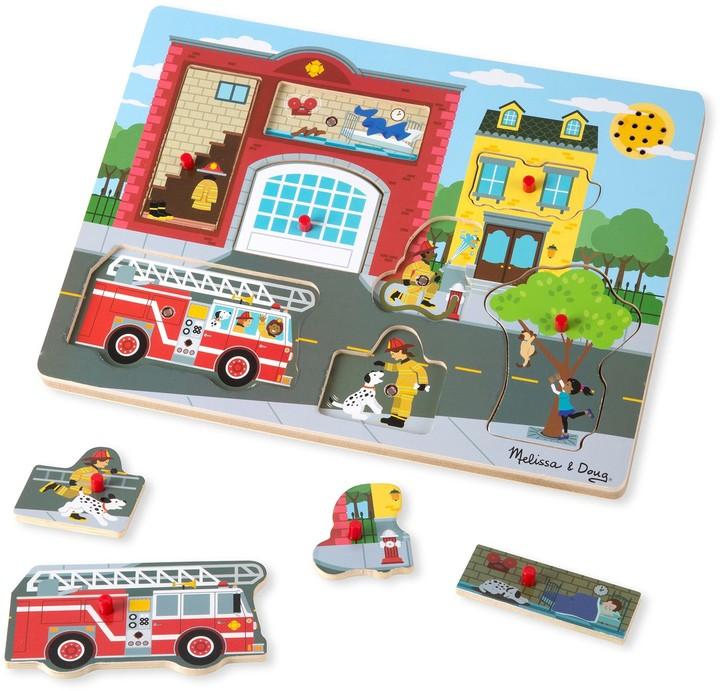 Melissa & Doug Around the Fire Station Sound Puzzle