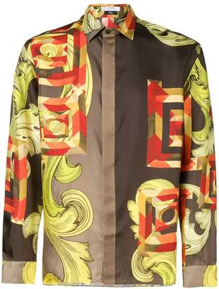 Versace printed satin shirt