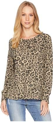 LnA Brushed Leopard Raglan Women's Clothing
