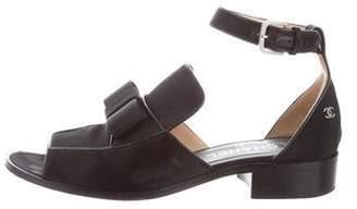 Chanel CC Bow Sandals
