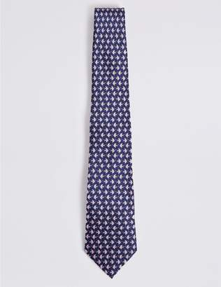 Marks and Spencer Pure Silk Flat Fish Tie