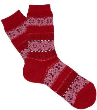 Falke Oslo Ankle Socks - Womens - Red Print