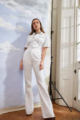 Nasty Gal Work It Out Flare Button-Down Boilersuit
