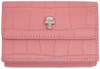 Alexander McQueen Pink New Mini Skull Card Holder
