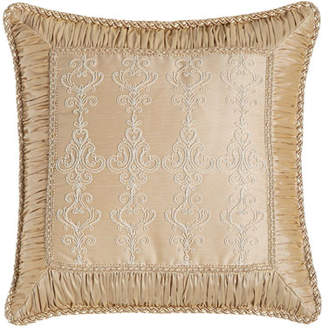 "Sweet Dreams Elizabeth Lace Pillow with Ruched Border, 19""Sq."