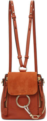 Chloé Red Mini Faye Backpack