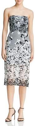 Sam Edelman Strapless Gingham Dress