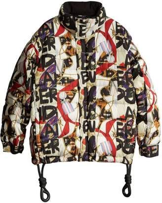 Burberry Graffiti print puffer jacket
