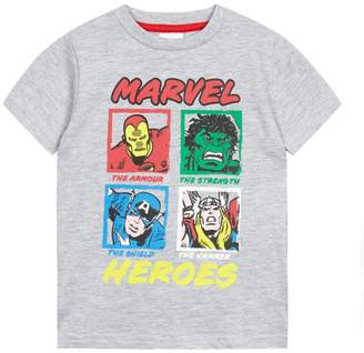 Character Marvel - Boys' Grey 'Marvel Heroes' Print T-Shirt