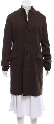 Pas De Calais Wool Plaid Coat w/ Tags