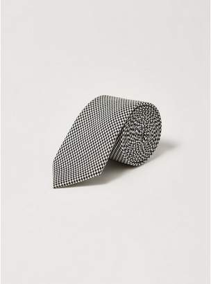 Topman Mens Black Houndstooth Tie
