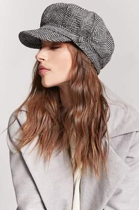 Forever 21 Tweed Herringbone Cabby Hat
