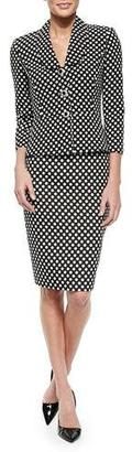 Albert Nipon Polka-Dot Peplum Jacket & Skirt Suit Set $395 thestylecure.com
