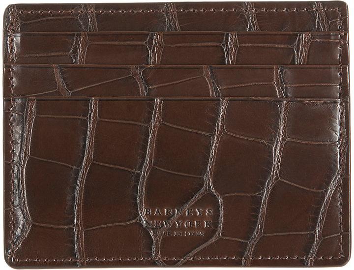 Barneys New YorkBarneys New York BARNEYS NEW YORK MEN'S ALLIGATOR CARD CASE