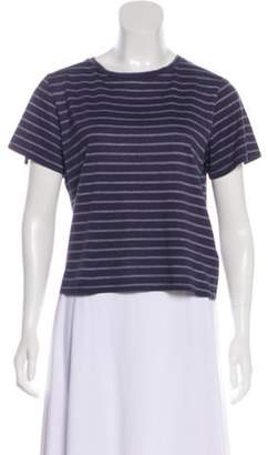 Band Of Outsiders Crew Neck Short Sleeve T-Shirt Aubergine Crew Neck Short Sleeve T-Shirt