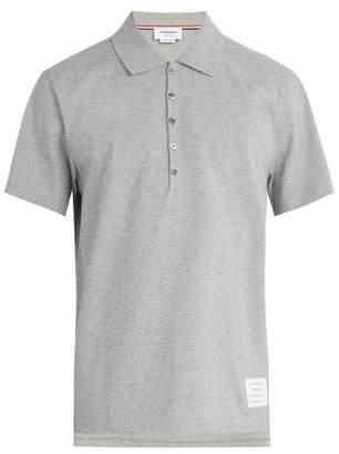 Thom Browne Cotton Jersey Polo Shirt - Mens - Light Grey