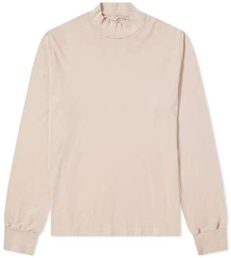 Save Khaki Long Sleeve Supima Mock Neck Tee