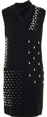 6bdcce93df3d Stella McCartney Faux Pearl-embellished Cutout Stretch-crepe Dress