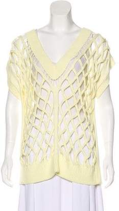 Alexander Wang Sleeveless Open-Knit Top