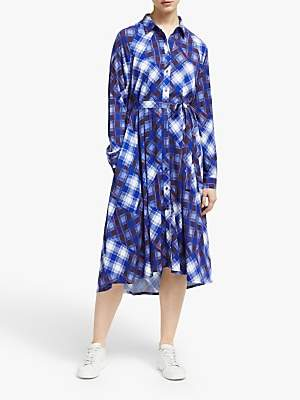 Gestuz Luanne Check Shirt Dress, Blue