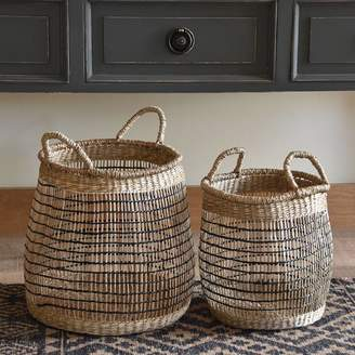 Posh Totty Designs Interiors Set Of Seagrass Storage Baskets