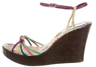 Missoni Leather Platform Wegdes