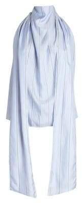 Cédric Charlier Striped Halterneck Top