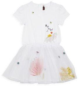 CatiminiCatimini Toddler's, Little Girl's & Girl's Tutu Embroidered Dress