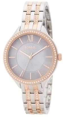 Fossil Women's Crystal Bracelet Watch, 36mm