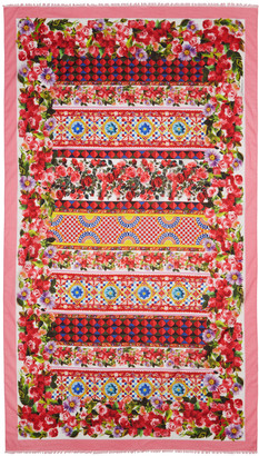 Dolce & Gabbana Pink Maiolica Scarf $395 thestylecure.com