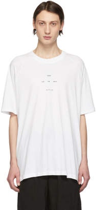 Song For The Mute White Logo Raglan T-Shirt