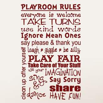 SweetumsWallDecals Playroom Rules Wall Decal