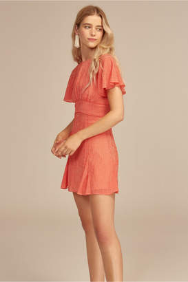 C/Meo Collective AFFIX SHORT SLEEVE DRESS red check