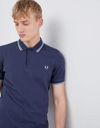 Fred Perry twin tipped polo in dark blue