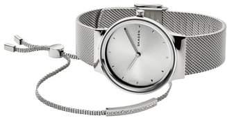 Skagen Freja Watch & Merete Bracelet Set, 34mm