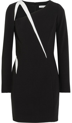 Mugler - Cutout Two-tone Crepe Mini Dress - Black $1,430 thestylecure.com