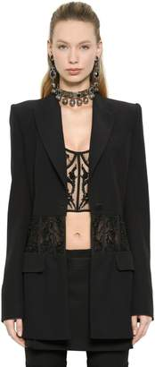 Alexander McQueen Embroidered Corset Viscose Crepe Jacket