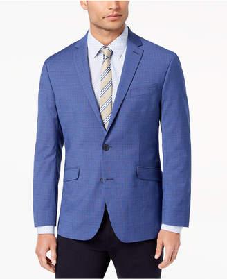 Kenneth Cole Reaction Men's Slim-Fit Stretch Medium Blue Plaid Sport Coat, Online Only