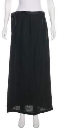 Max Mara Linen Wrap Skirt