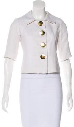 Smythe Short Sleeve Button-Up Jacket