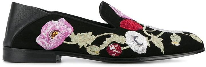Alexander McQueenAlexander McQueen floral-embroidered loafers