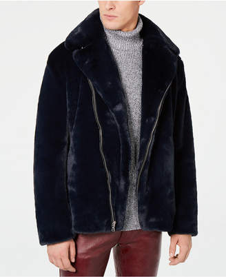 INC International Concepts I.n.c. Men Syd Faux Fur Coat
